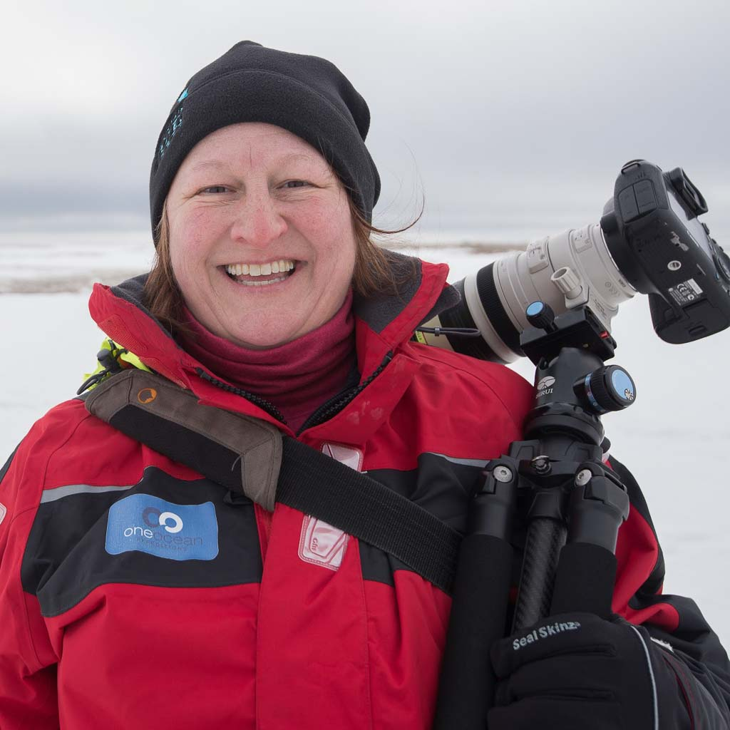 Lauri Novak in the Arctic, Ron Clifford Photography